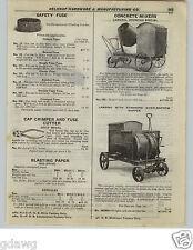 1922 PAPER AD 5 PG Lansing Cement Mixer Trailer Cart Wheelbarrow Mortor Paver