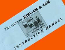 ENGLISH MANUAL for KIEV-4M KIEV-4AM 35mm film rangefinder camera Contax BOOKLET