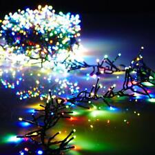 New Raz 36.5' MultiColor Compact LED 500 Light  Garland with Green Wire G3737067