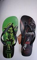 NEW NWT HAVAIANAS Men's Star Wars Darth Vada & Yoda Flip Flops Sandal Size 13