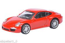 PORSCHE 911S (991) Coupé rojo, SCHUCO Auto Modelo 1:87 , 452613700