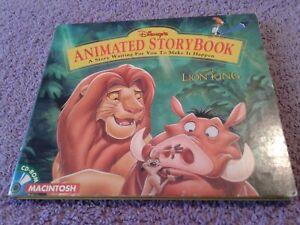 DISNEY ~ THE LION KING ~ ANIMATED STORY BOOK ~ CD-ROM MACINTOSH 1994 ~ VG+