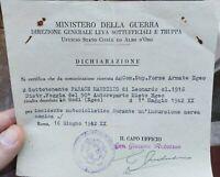 1942 167) MORTE MILITARE MOTOCICLISTA ITALIANO NEL BOMBARDAMENTO DI RODI - EGEO