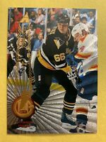 1994-95 Pinnacle Rink Collection #170 Mario Lemieux Pittsburgh Penguins Parallel
