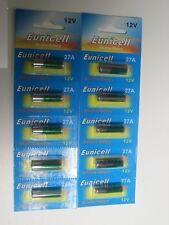 10 Piles Alcaline 12V A27 27A Super Power Battery Alkaline Mn27 Gp27a L828 El812