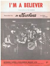 THE MONKEES - I'M A BELIEVER SHEET MUSIC