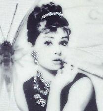 """VINTAGE Audrey Hepburn STAMPA SU Farfalla Adesivo Decalcomania 5"""""""