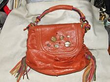 Spring 2010 JUNIOR DAVIS TAMI Handbag Italian Leather Cayenne Orange Red