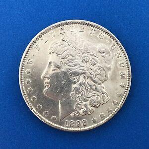 1892 P Morgan Silver Dollar $1 BU Details Better Key Philadelphia Mint Coin