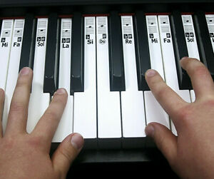 PIANO STICKERS ~ KEYNOTES Music Note Keyboard Labels for 88 Keys~ Do-Re-Mi or H