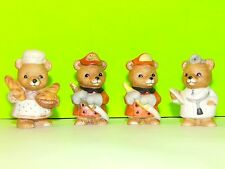 Lot Of 4 Homco Miniature Collectible Bear Figurines Gift Collectibles