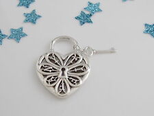 Tiffany & Co Silver Filigree Heart Pendant For Necklace Bracelet
