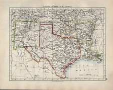 1904 Antiguo Mapa ~ Estados Unidos South West Central Texas Nuevo México Arkansas