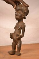 African tribal art, unusual luba statue from DRC