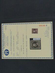Nystamps US Stamp # 423 Mint OG H $475 PF Certificate j16yv