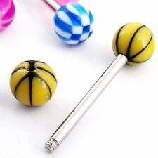 30 X ABTorted Tongue Nipple Bar Ring Barbell Piercing I1O3