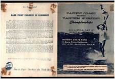 Pacific Coast Mixed Tandem Surfing Championships Rare 1961 Program w/ Photos Ca