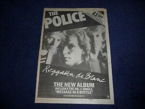 THE POLICE REGATTA DE BLANC 1979 FULL PAGE PRESS ADVERT POSTER SIZE  37/26CM