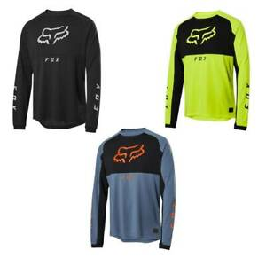 New Men's FOX Cycling Jersey DH MTB Off Road Racing Clothing Long sleeve top
