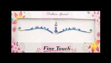 Bindi violet emeraude  bijou de peau  auto adhesif strass pour les yeux -2600