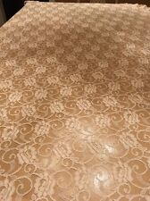 "Schiffili Ruffled Edge  Needle Lace Oval Tablecloth Ecru 70""x 56"""