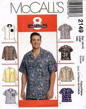 McCall's Men's Shirt Pattern 2149 Size L UNCUT