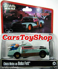 Disney Cars Star Wars Chick Hicks as Boba Fett Toy Collectable Pixar Diecast Car