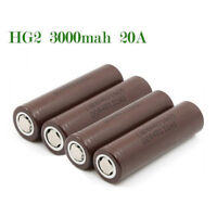For LG 18650 HG2 3000mAh Rechargeable High Drain Li-ion Battery Flat Top A!