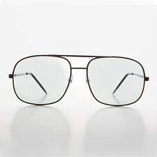Square Metal Vintage Aviator Glasses & Sunglasses Black-BANDIT