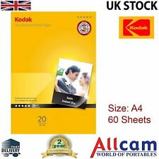 3 Pack: Kodak Satin Photo Paper A4 (210 x 297 mm) 280 g/m2 60 sheets in total