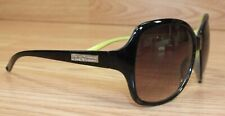 Juicy Couture Black With Green Lining Women's Plastic Sunglasses **READ**