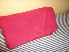 VINTAGE RALPH LAUREN RED WEAVED TWIN BED BLANKET COTTON 66 X 90