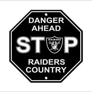 "Las Vegas Raiders Stop Sign ""Raiders Country"" NEW! 12""X12 Sturdy Plastic"