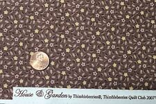 """HOUSE & GARDEN"" THIMBLEBERRIES COTTON QUILT FABRIC BTY FOR RJR FABRICS 6411-1A"