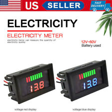 Led Digital Voltmeter Car Motorcycle Voltage Power Meter Gauge Display 12v 60v