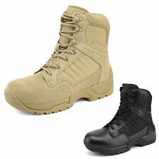 Men's Zipper Military Tactical Boots Hiking Combat Motorcycle Camping Boots