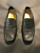 MENS BLACK COLE HAAN DRIVING MOCCASIN SHOES SIZE 10 M