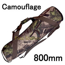 Camouflage 800mm Nylon Padded Camera Tripod Carry Bag Travel Case Shoulder Strap