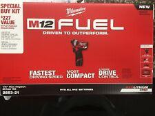 "Milwaukee M12 Fuel 2553-21    1/4"" Hex Impact Driver Kit"