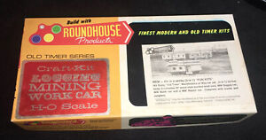 """ROUNDHOUSE 3 IN 1 KIT """"OLD TIMER"""" MOW  UNDECORATED, #1503 CAR SERIES """"HO"""" SCALE"""