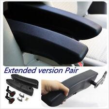 Pair Car Truck Black Adjustable Armrests Arm Rest PU Foam Comfortable For 2 Side