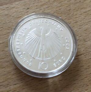 2X €10 Silbermünzen 2002 und 2003 FIFA Fußball WM 2006