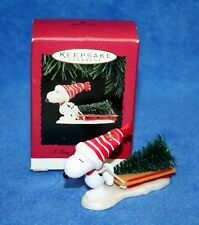 "Hallmark 1996 ""A TREE FOR SNOOPY"" PEANUTS Christmas Keepsake Ornament"