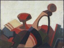 """Ancien Tableau """"Composition Abstraite"""" Peinture Huile Antique Oil Painting"""