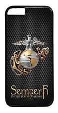 US Marines USMC Marine Corps for iPhone 4 4s 5 5s 5c 6 6 Plus Case cover black