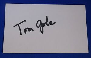 TOM GOLA dec 2014 signed autograph 3x5 New York Knicks Phil/SF Warriors 1955-66