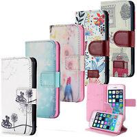 Custodia Flip Portafoglio Case Motivo Cover Wallet Etui Apple iPhone