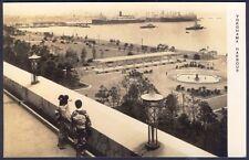 YOKOHAMA HARBOUR, Japan. Vintage Real Photo Postcard. Free UK Post