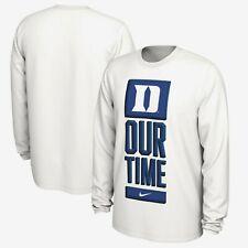 Duke Blue Devils Mens Nike Dry Basketball Our Time Bench Legend DRI-FIT T-Shirt