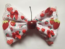 Giant Fully Loaded Sweet Lolita Hair Bow Fairy Kei Kawaii Cherry Candy Decora